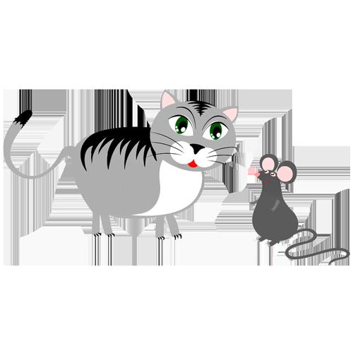 El gato y el ratón hacen vida en común
